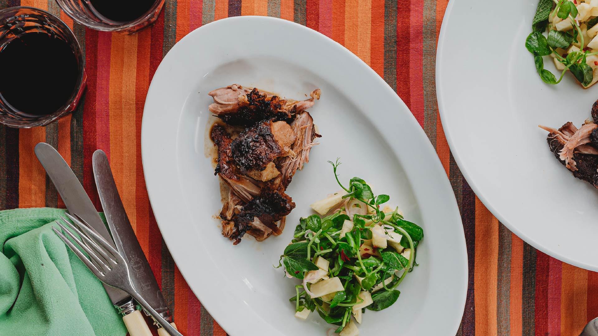 Braised Pork and Pineapple Salsa