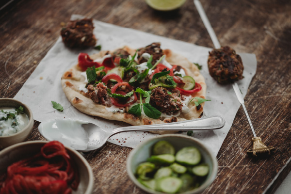 Lamb-Koftas-with-pickles-and-flatbread_Support-2-600x400
